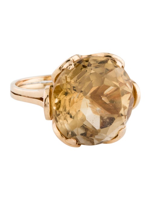 18K Citrine Cocktail Ring yellow