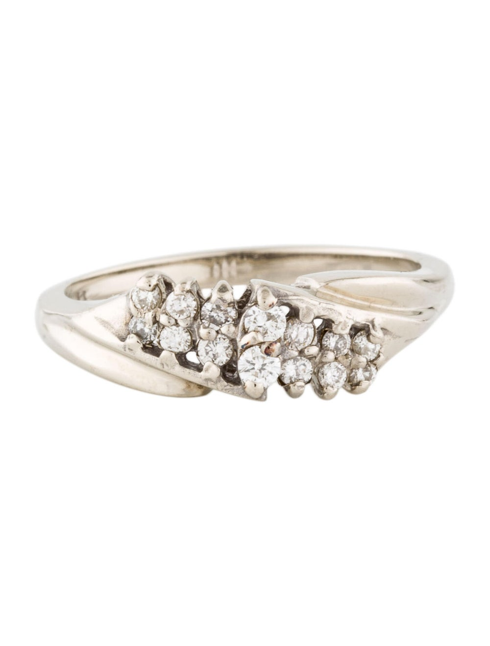 14K Diamond Cocktail Ring white - image 3