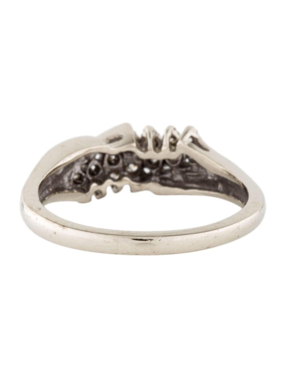 14K Diamond Cocktail Ring white - image 4