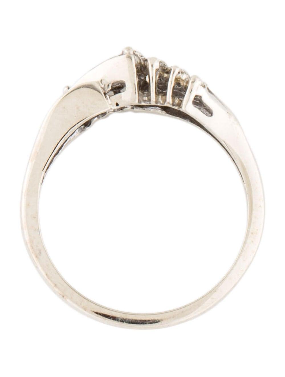 14K Diamond Cocktail Ring white - image 5