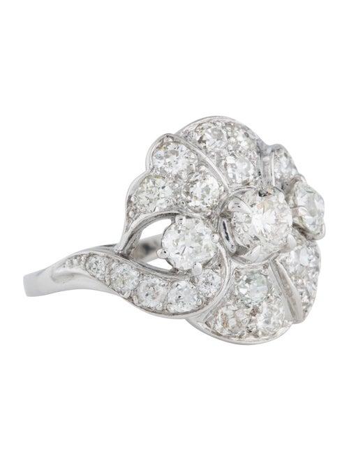 Platinum 1.92ctw Diamond Art Deco Cocktail Ring