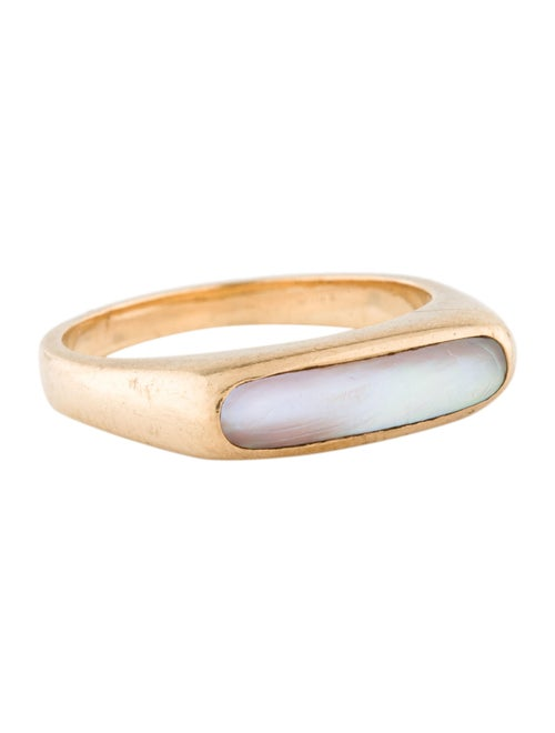Ring 14K Mother Of Pearl Cocktail Ring yellow
