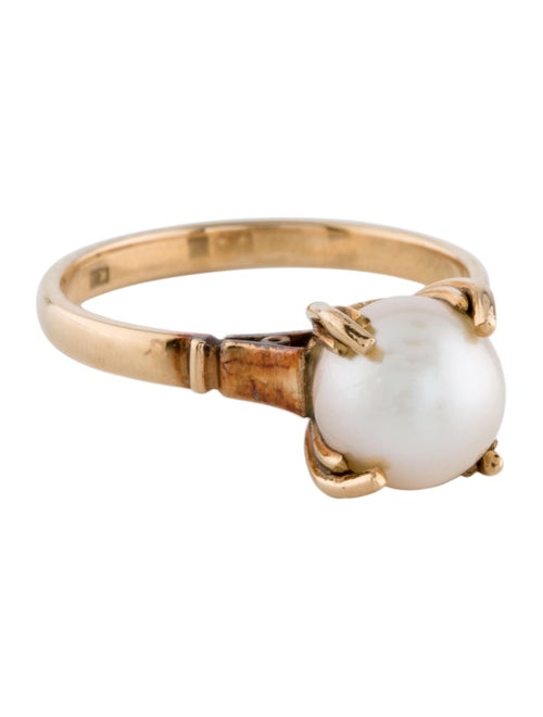 Ring 18K Pearl Cocktail Ring yellow