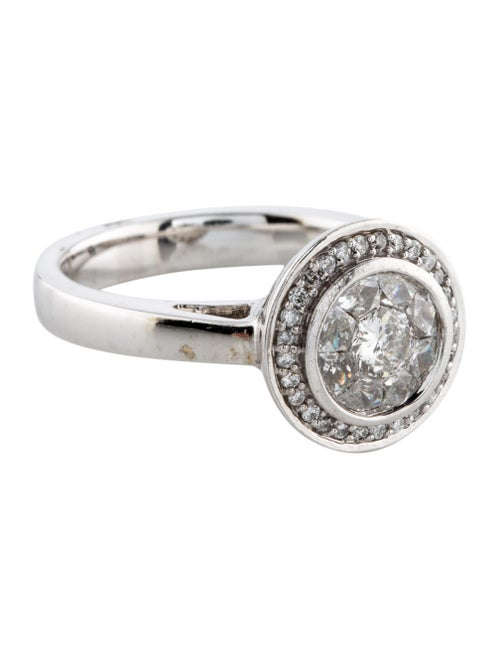 14K Diamond Cocktail Ring white - image 1