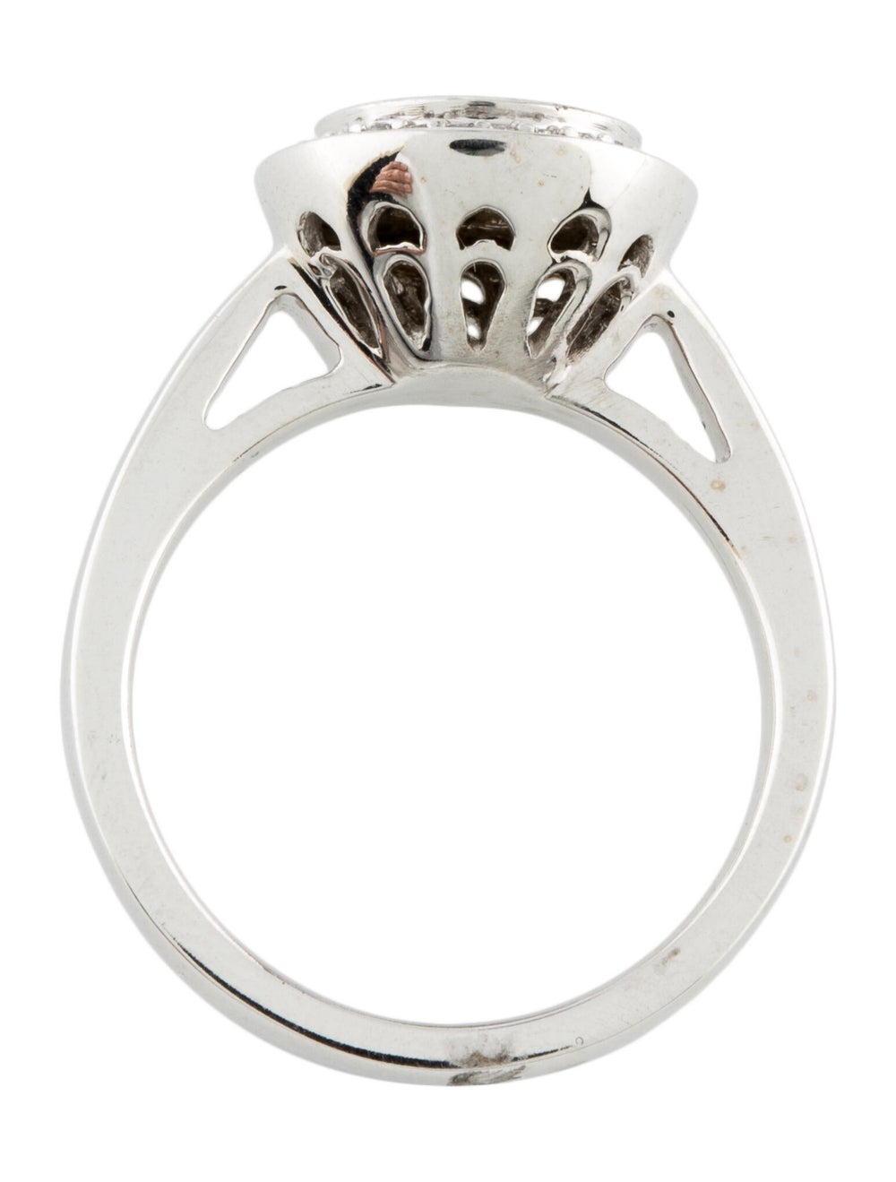 14K Diamond Cocktail Ring white - image 5
