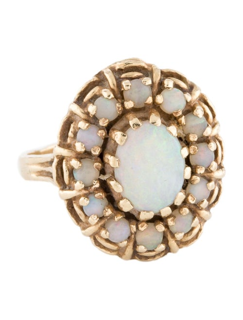 14K Opal Cocktail Ring yellow