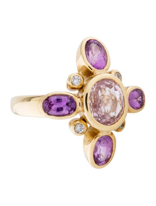 Barry Brinker 18K Pink Sapphire Ring yellow