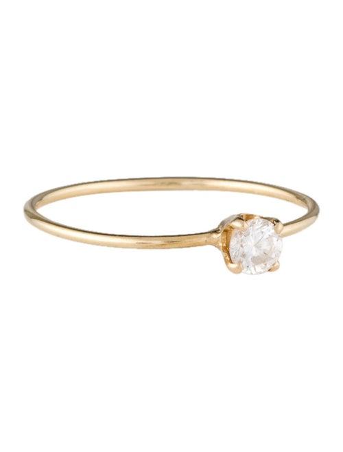14K Diamond Solitaire Engagement Ring Yellow