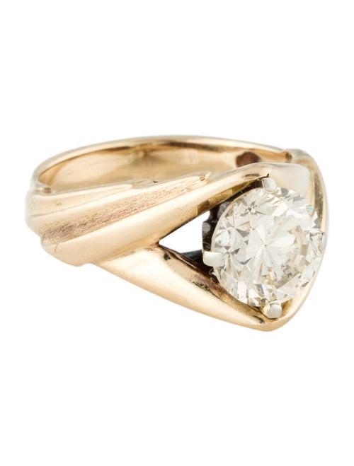 14K 1.52ct Diamond Solitaire Ring Yellow
