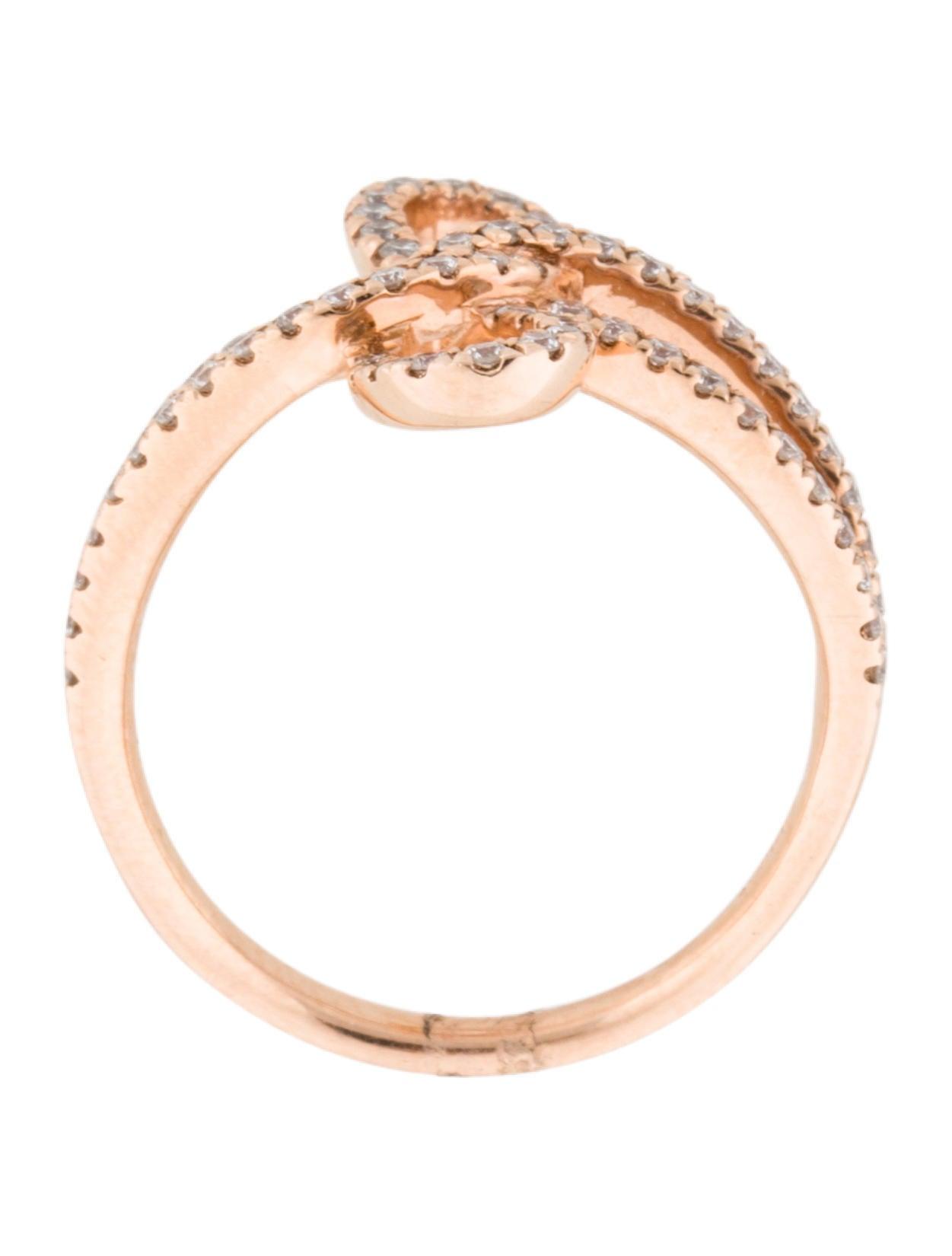 Ring Bow Il Gioiello Personalizzabile Con La Tua Nailart: 14K Diamond Bow Ring - Rings - RRING20005