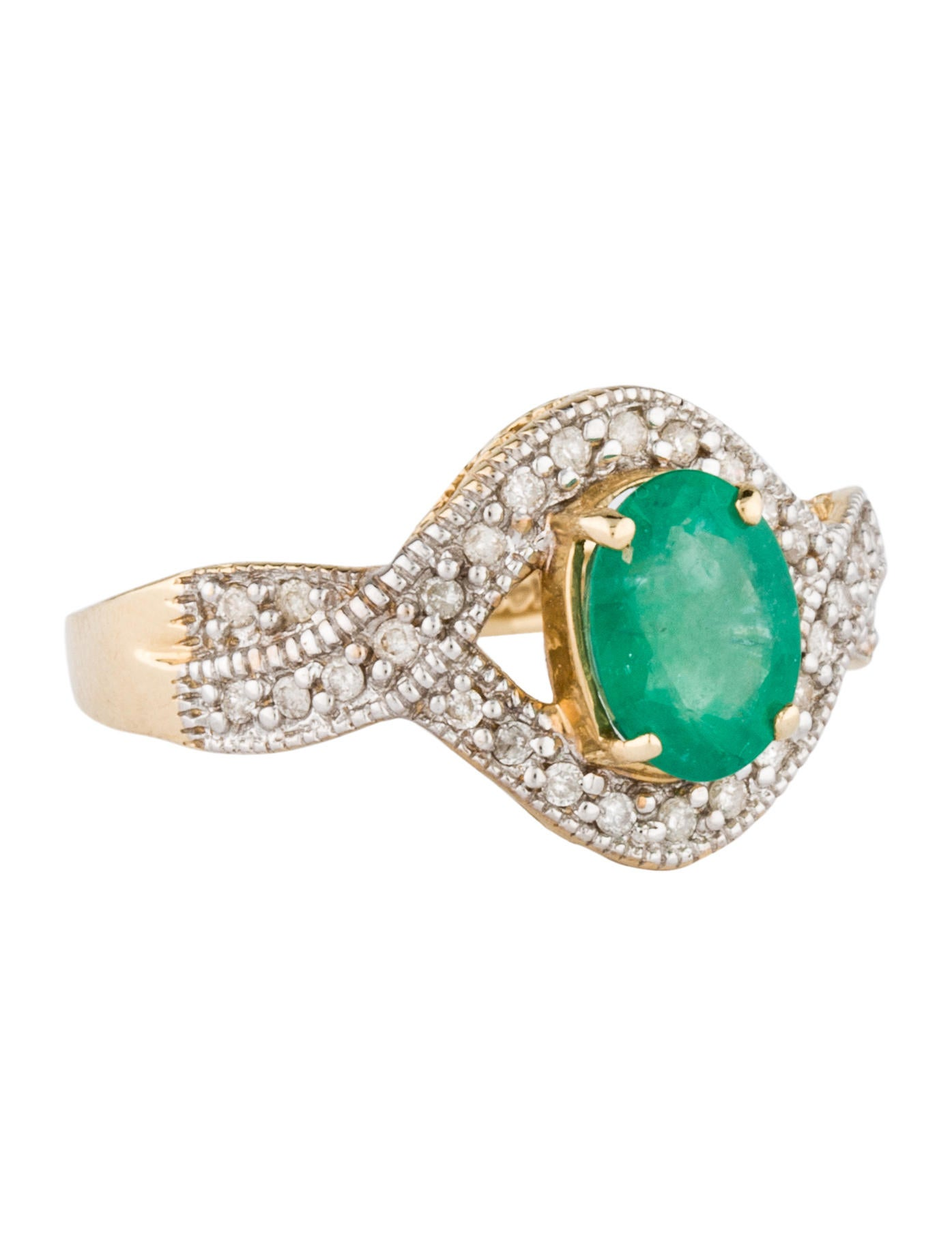 14k emerald ring rings rring21605 the realreal