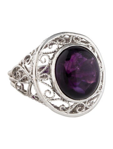 Amethyst Filigree Ring None