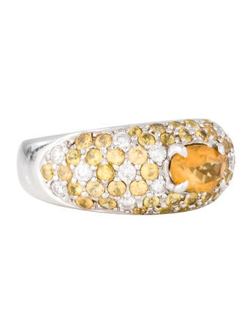 18K Citrine & Diamond Ring