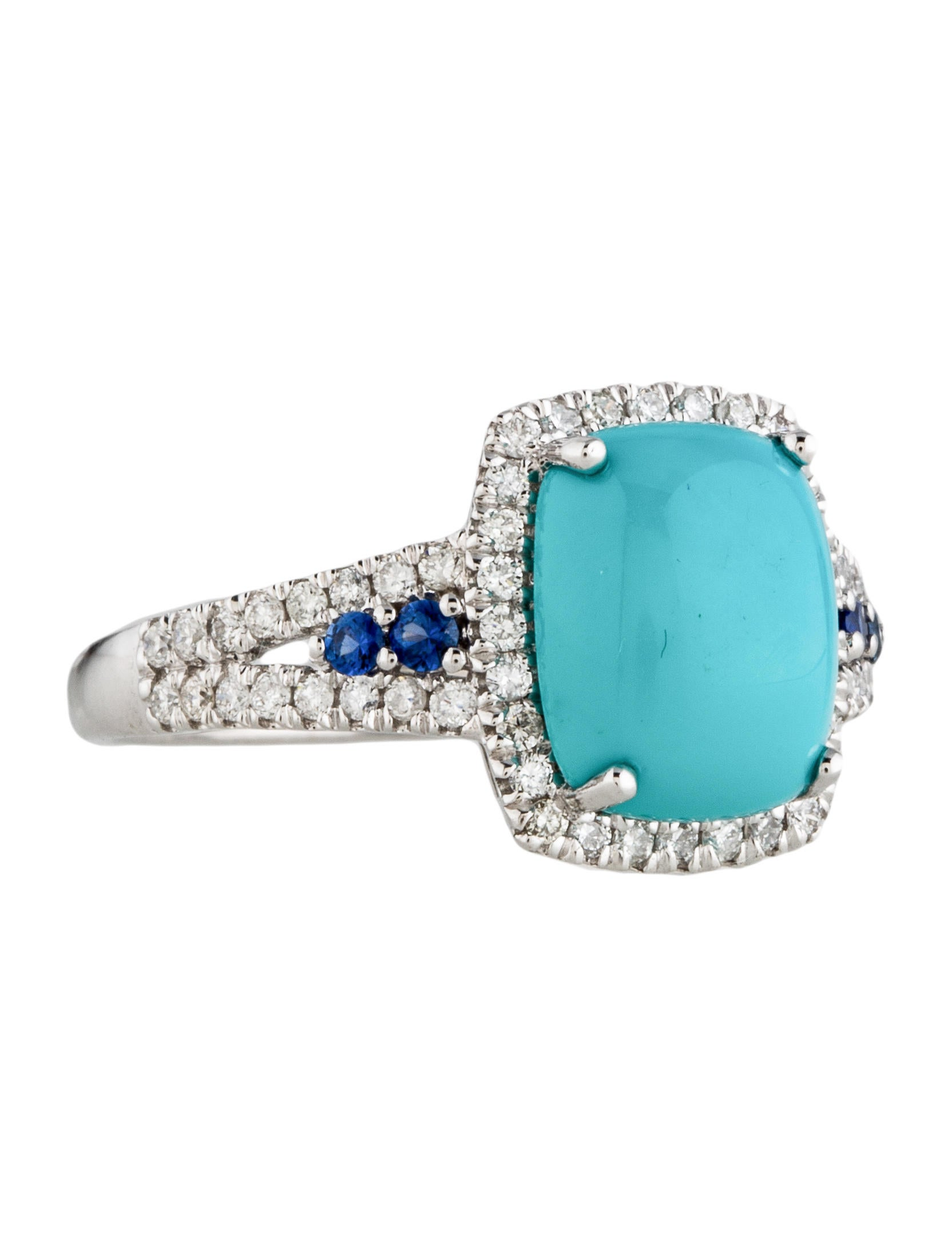 turquoise sapphire diamond cocktail ring rings
