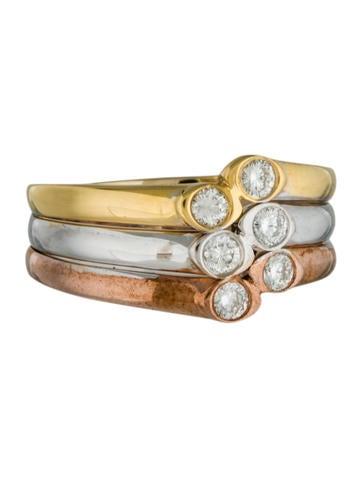 14K Tri-Color Diamond Ring