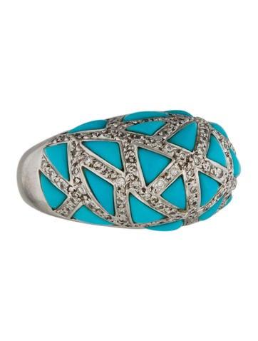 18K Turquoise & Diamond Ring