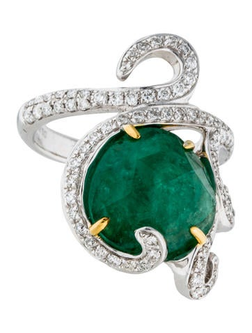18K Emerald & Diamond Cocktail