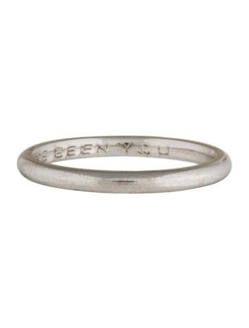 thin platinum band rings rring25450 the realreal