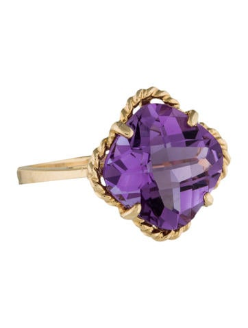 14K Amethyst Ring None