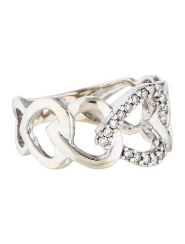 14k interlocking ring rings rring25968