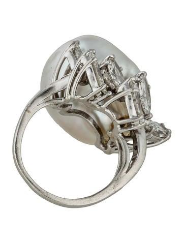 Platinum Baroque Pearl & Diamond
