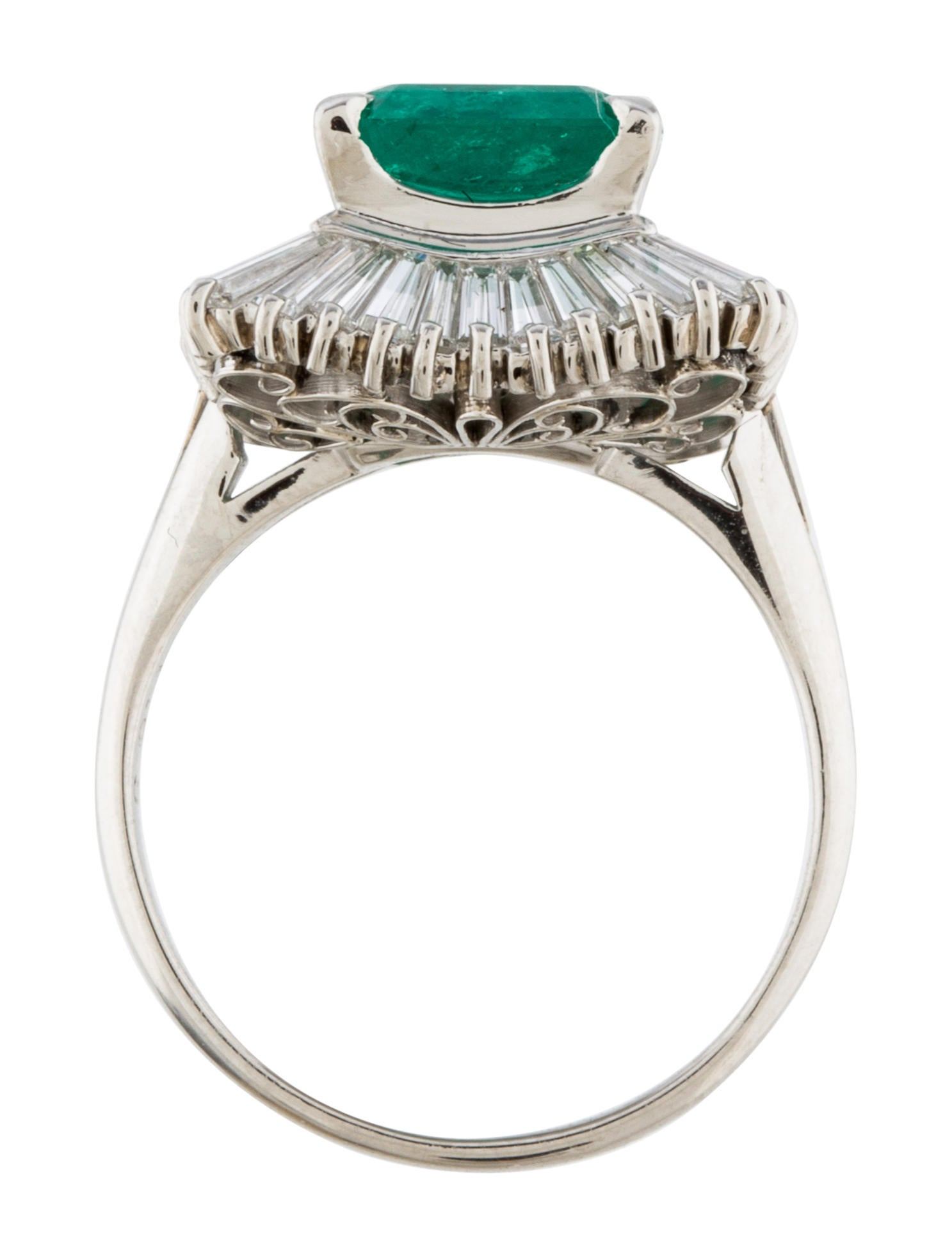emerald halo ring rings rring26393 the