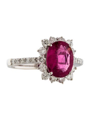 Tourmaline & Diamond Ring None