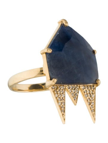14K Kyanite & Diamond Cocktail Ring