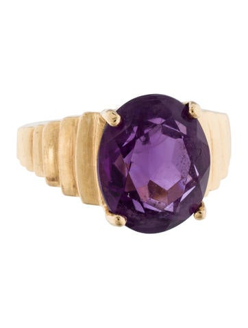 Amethyst Cocktail Ring None