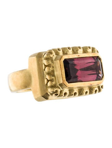 18K Tourmaline Ring None