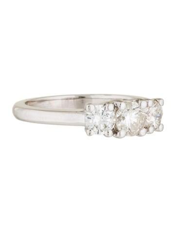 14K Three Stone Diamond Engagement Ring
