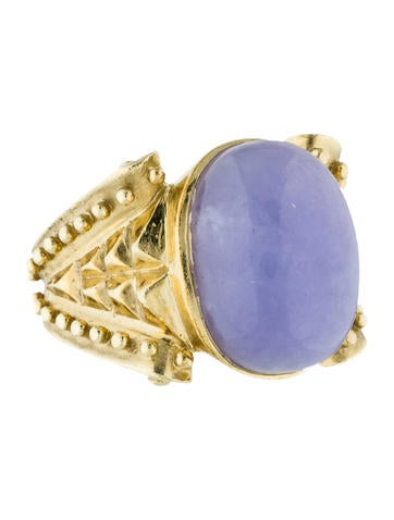 Aletto & Co Lavender Jadeite Cocktail Ring