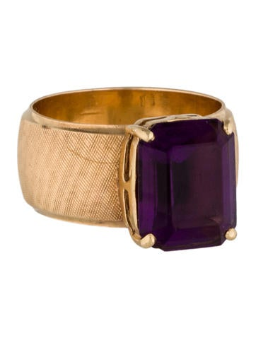 14K Amethyst Ring None