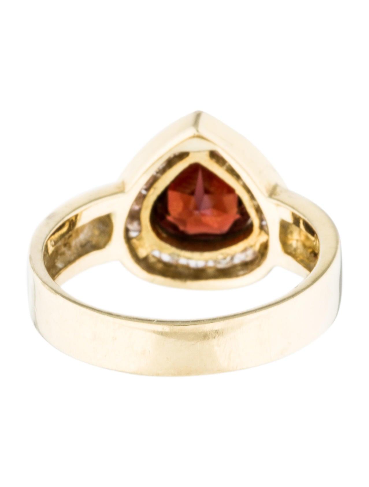 14k garnet cocktail ring rings rring29130