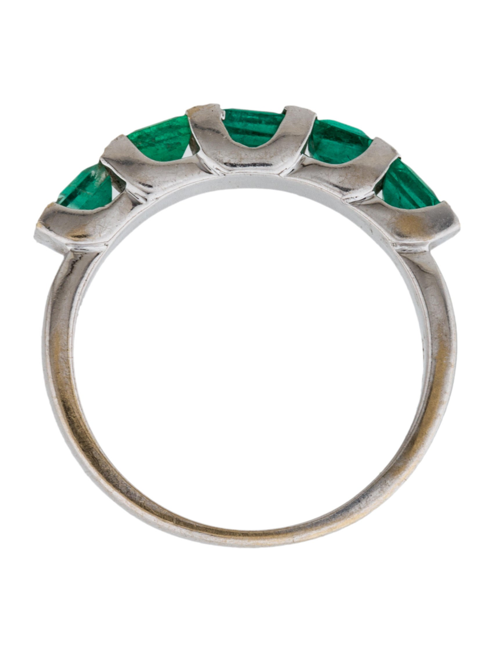 18k emerald band rings rring29696 the realreal