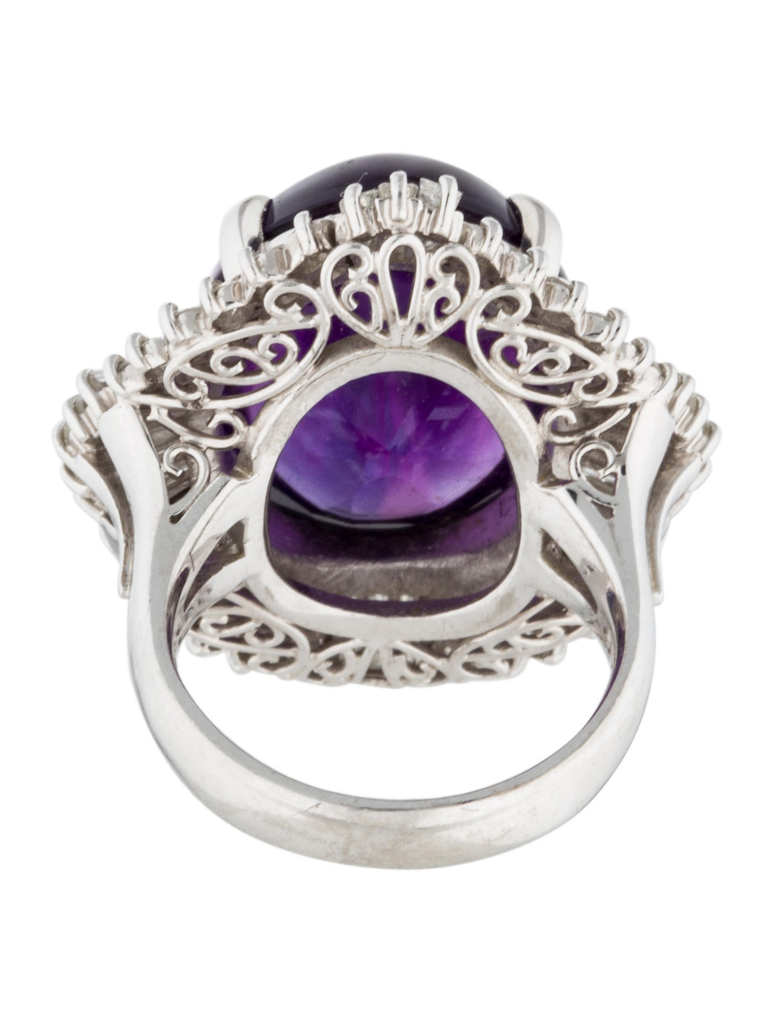 platinum amethyst ballerina ring rings