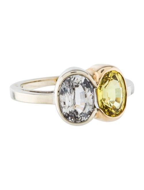 Yellow & White Sapphire Ring white