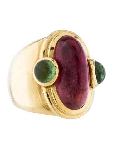 Tourmaline Cabochon Cocktail Ring