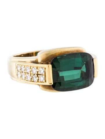 18K Tourmaline & Diamond Cocktail Ring