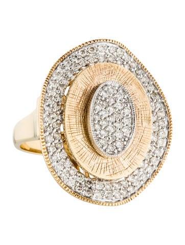 14K Pavé Diamond Cocktail Ring