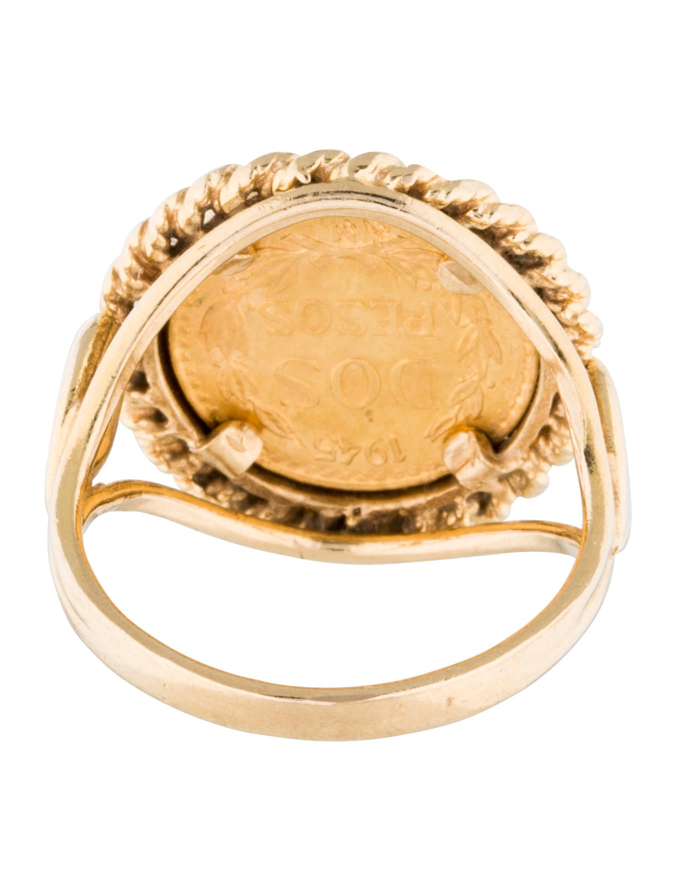 14k mexican peso coin ring rings rring31849 the realreal
