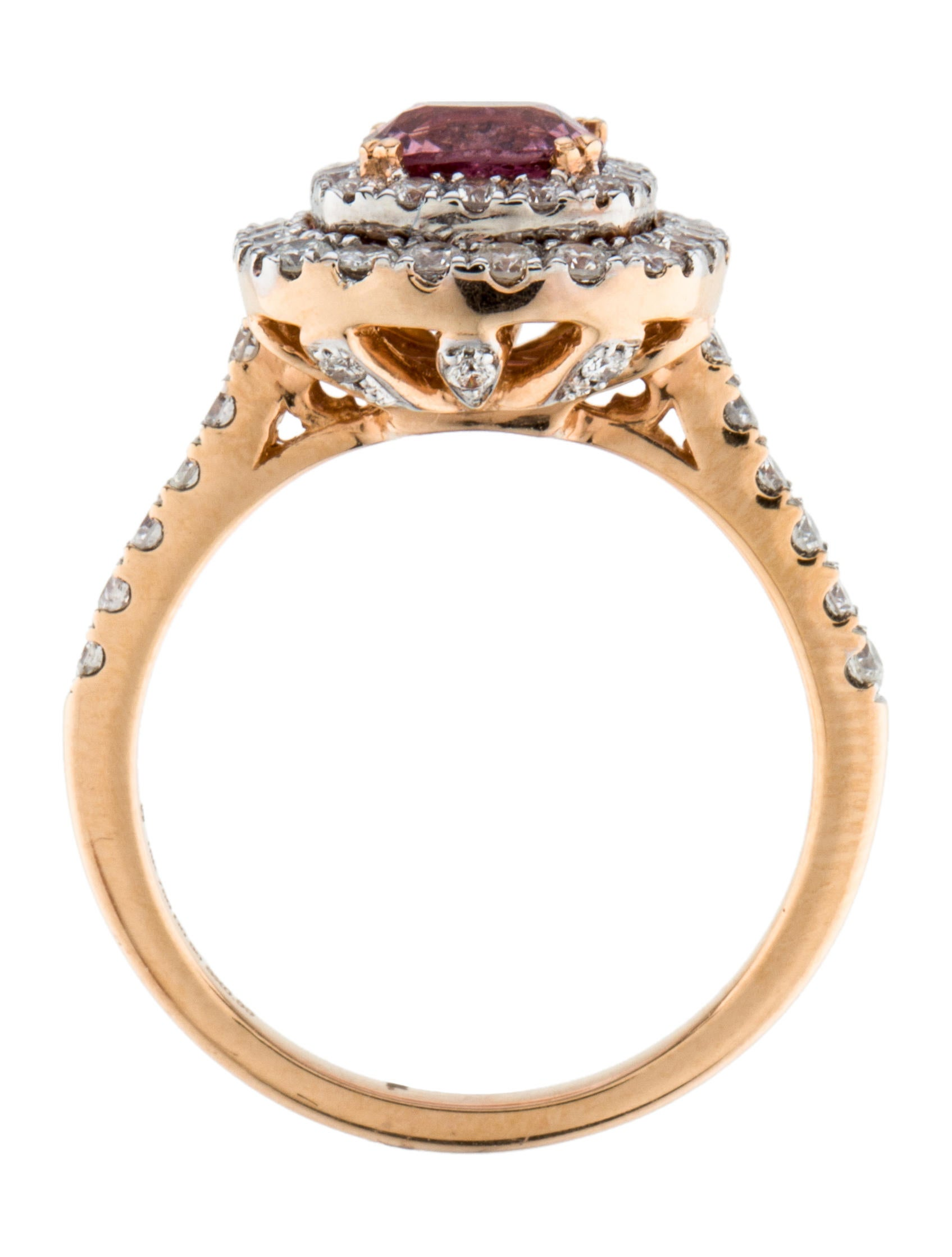 Pink Spinel Amp Diamond Halo Ring Rings Rring31909 The