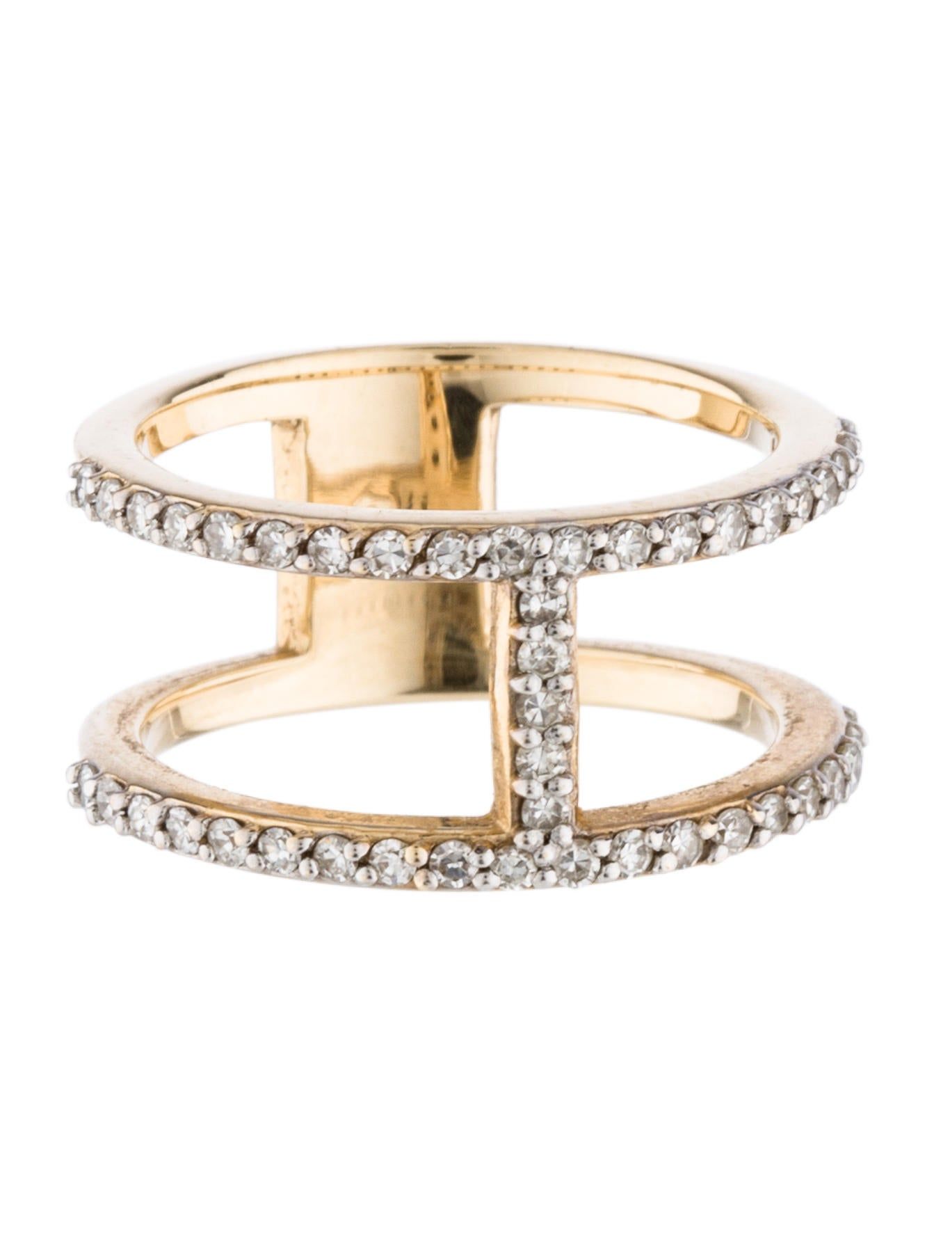 14k cage ring band rings rring31916 the realreal