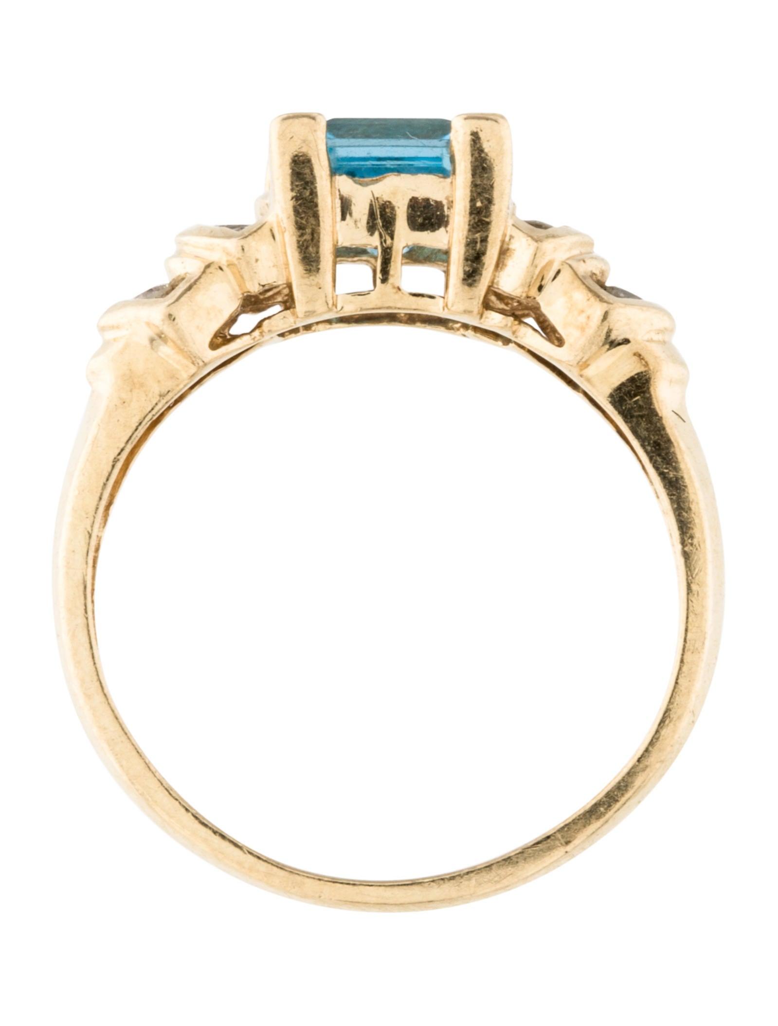 14k topaz ring rings rring32023 the realreal