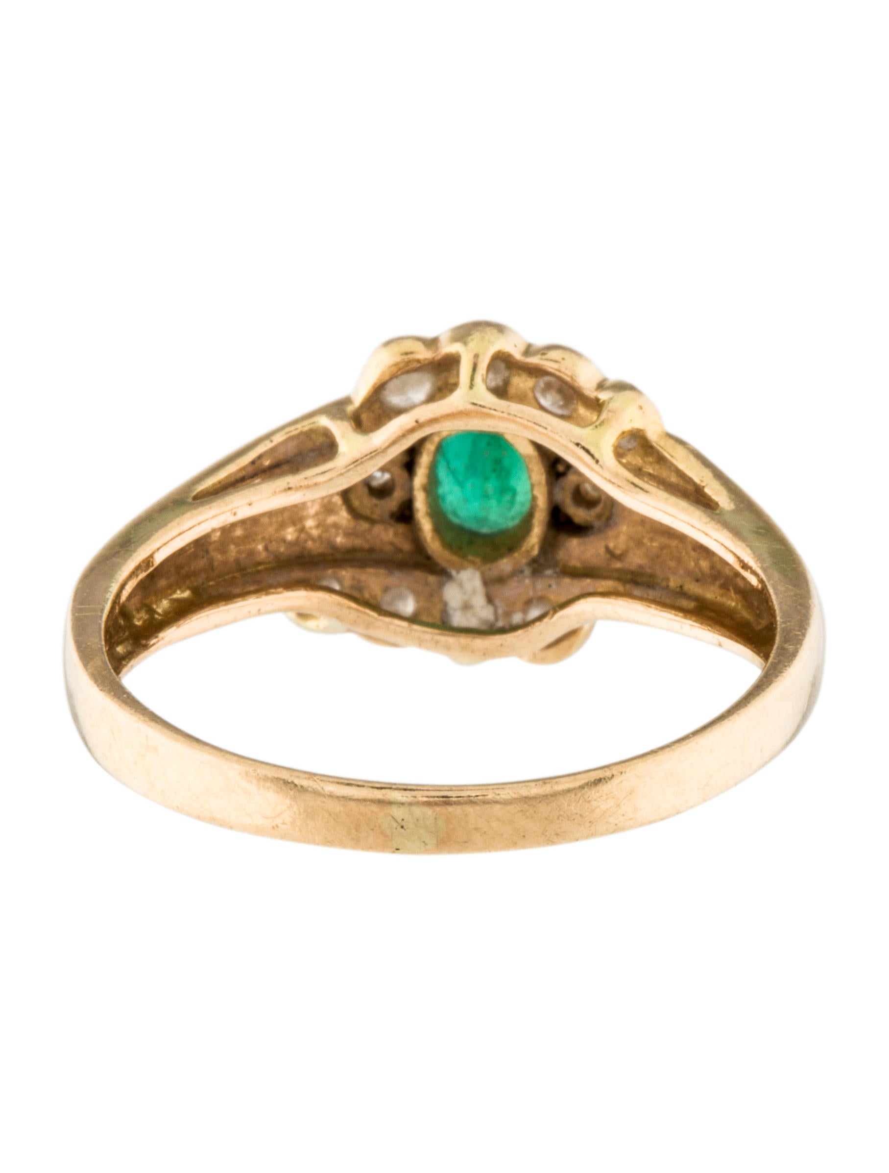 14k emerald ring rings rring32148 the realreal