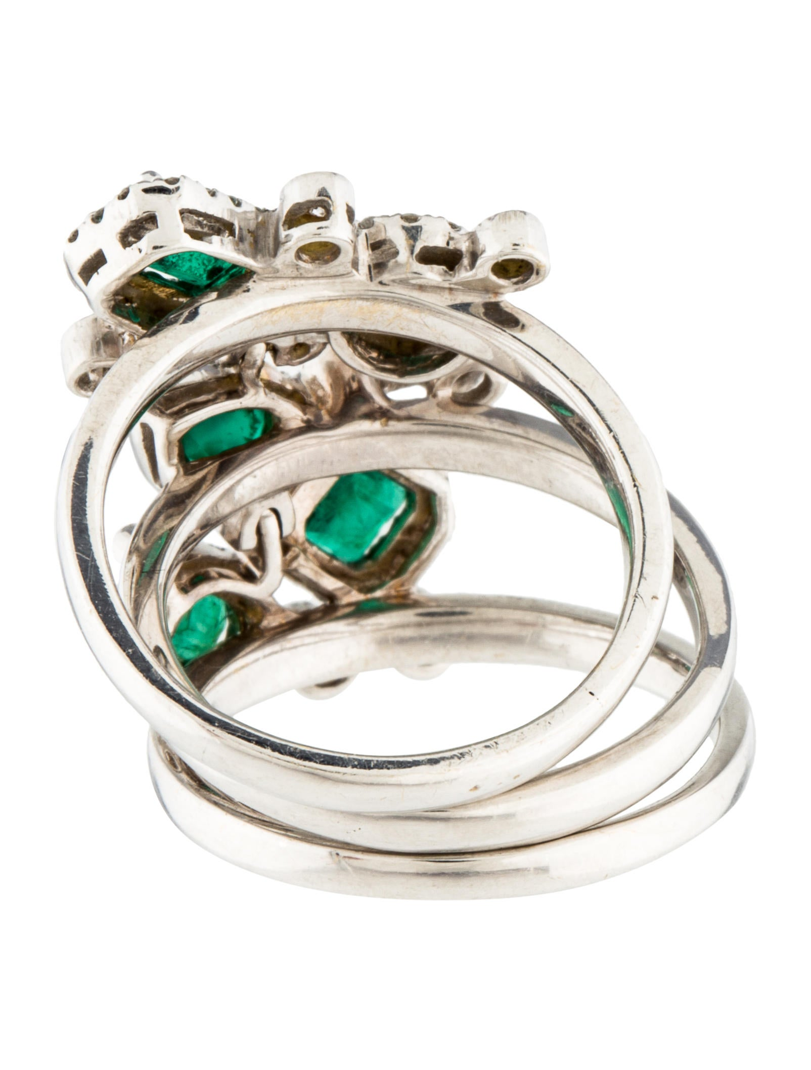 18k emerald ring rings rring32966 the realreal