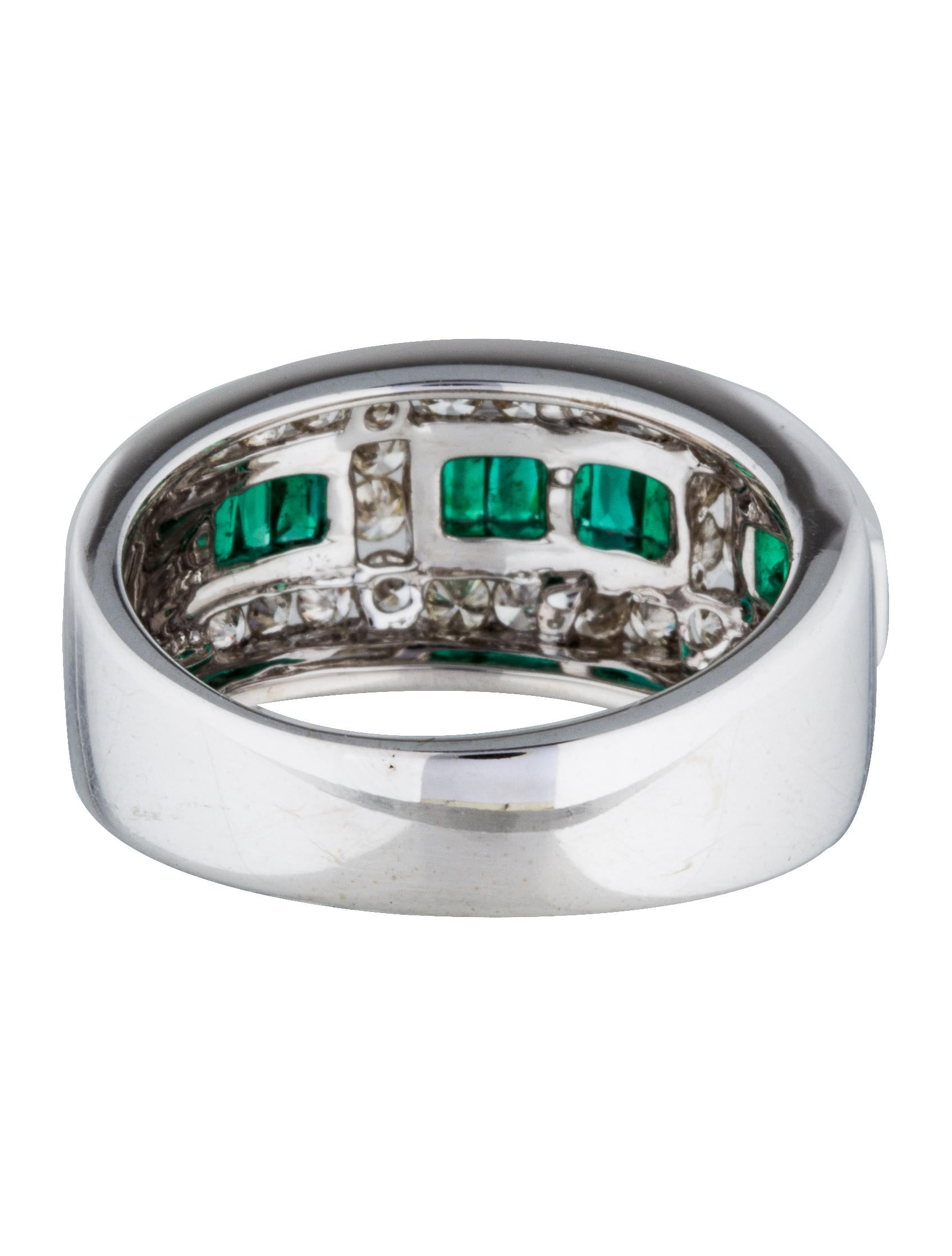 18k emerald ring rings rring33387 the realreal