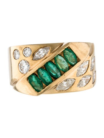emerald signet ring rings rring33405 the