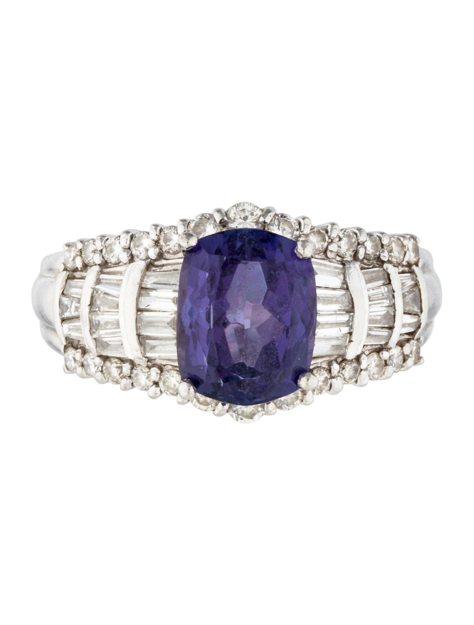 platinum tanzanite cocktail ring rings