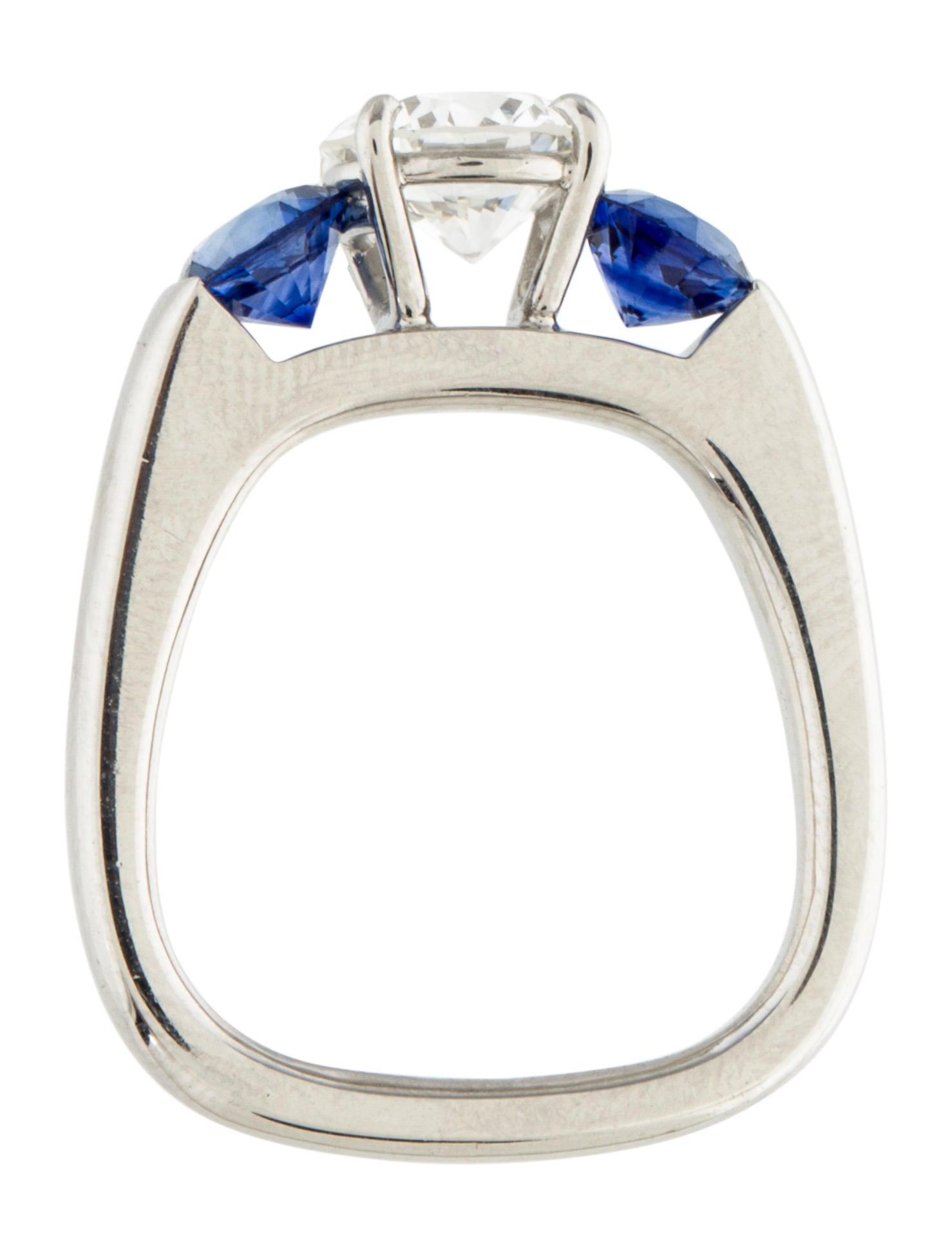 platinum sapphire ring rings rring34254